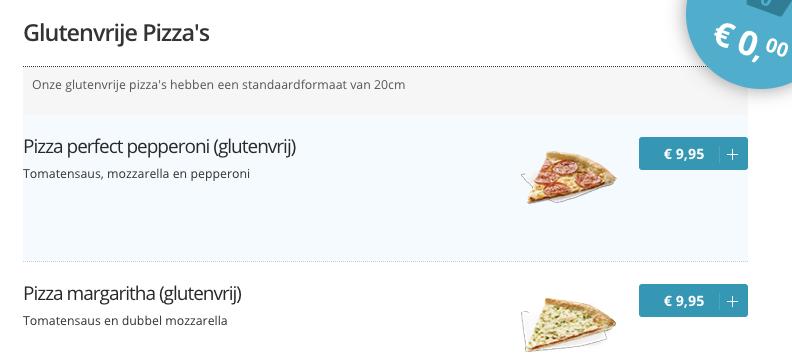 Glutenvrij domino's pizza