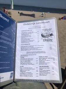 Glutenvrije menukaart